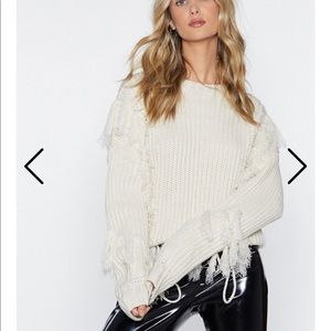 Nasty Gal Tassel At Hand Sweater